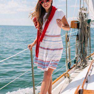 Club Manco Ploye Skirt Mini White Banded Waist New